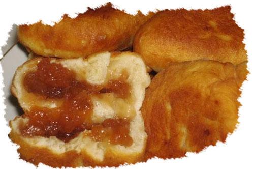 жареные пирожки с повидлом
