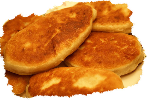жареные пирожки картошка грибы