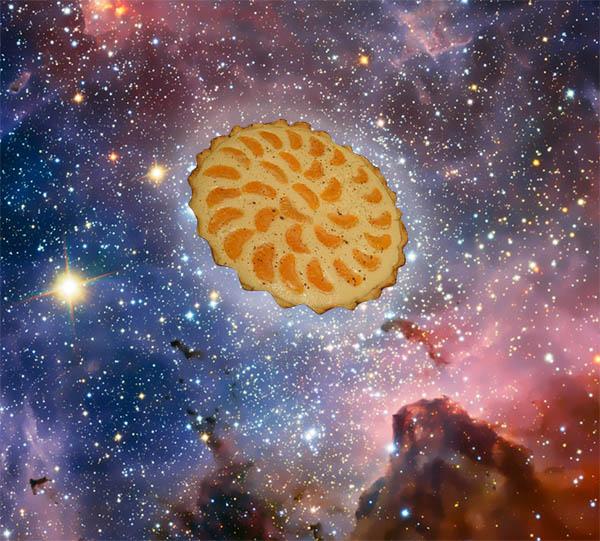 пирог с мандаринами и творогом