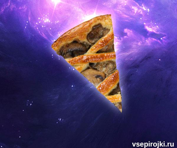 пирог с вешенками фото