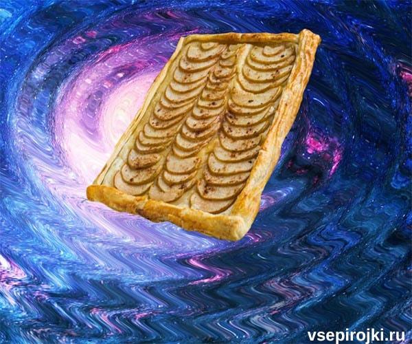слоеный пирог грушевый фото