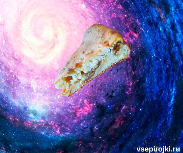 заливной пирог с курицей и капустой фото