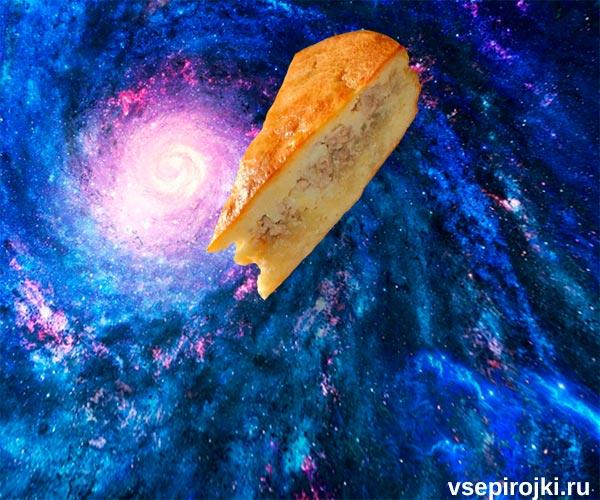 заливной пирог с курицей и картофелем фото