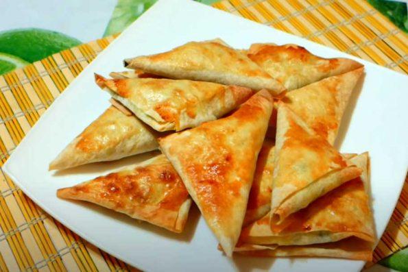 Пирожки из лаваша с картошкой