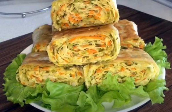 Пирожки с капустой из лаваша