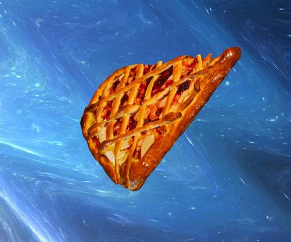 дрожжевой пирог с яблоками и брусникой фото