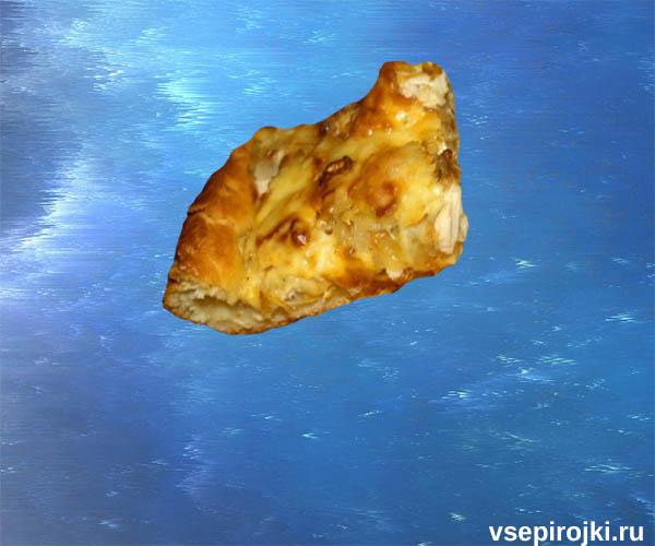 пирог дрожжевой курица с сыром фото