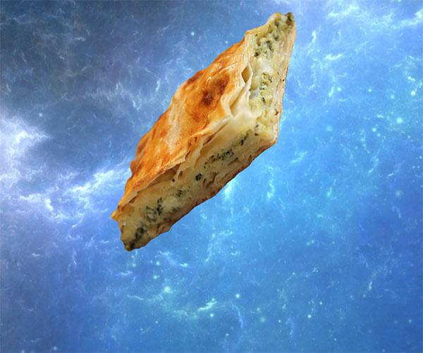 слоеный пирог сыр и шпинат фото
