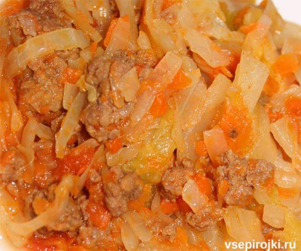 начинка из мяса и капусты для пирога