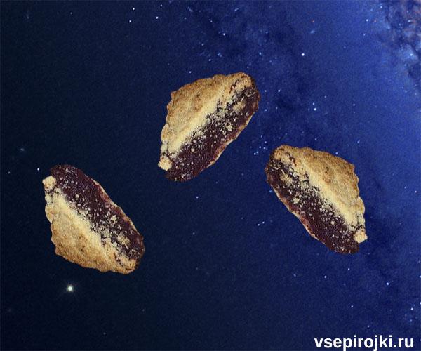 песочный пирог с черемухой фото