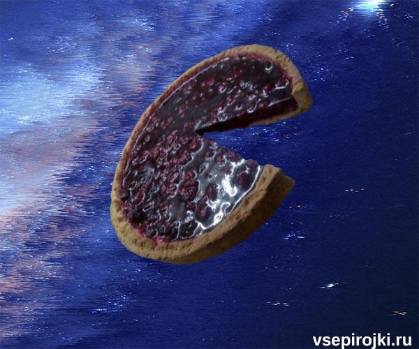 песочный пирог вишня и желе фото