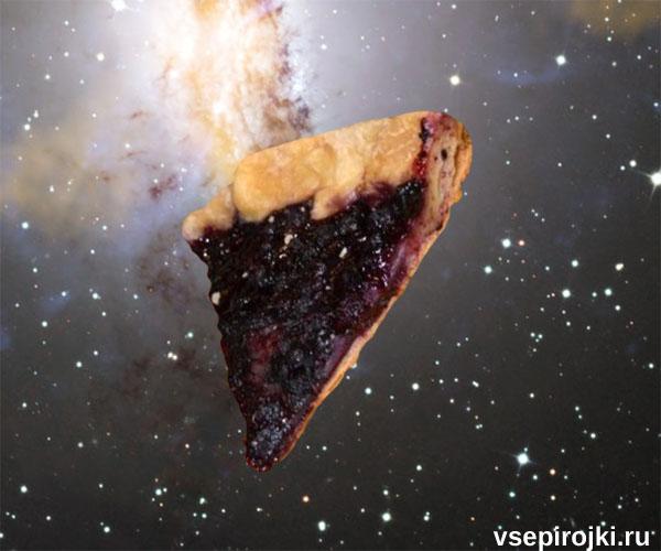 Пирог с черникой из слоеного теста