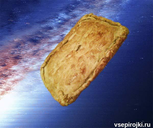 слоеный пирог треска фото