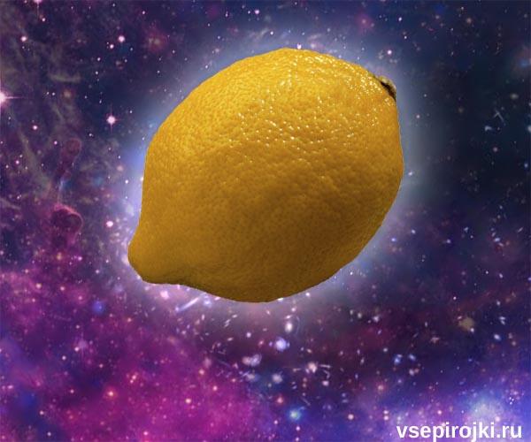 Открытый пирог с лимоном