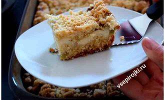 песочный пирог с ревенем 6