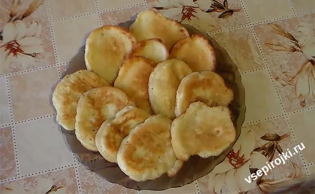 банановые оладьи без миксера
