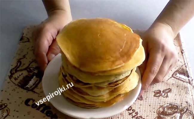 рецепт панкейков на молоке