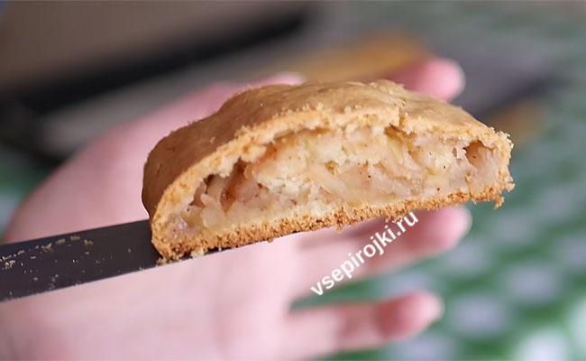 штрудель с яблоком из песочного теста