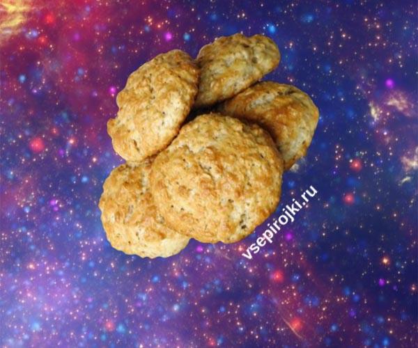 рецепт овсяного печенья без масла