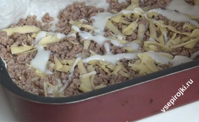 Лазанья с фаршем классический рецепт