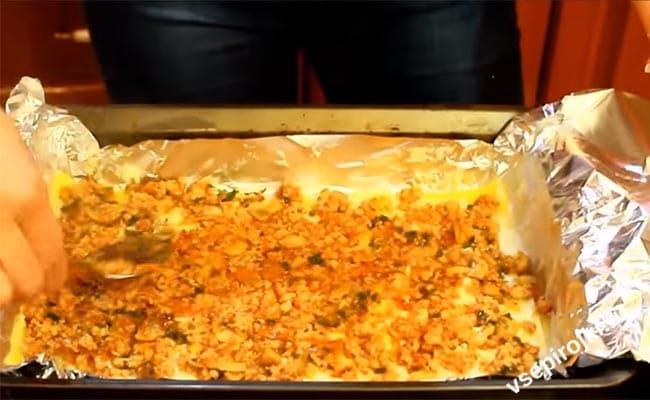 Лазанья с фаршем классический рецепт готовим