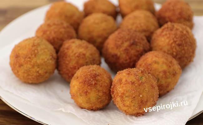 Хрустящие картофельные шарики с сыром