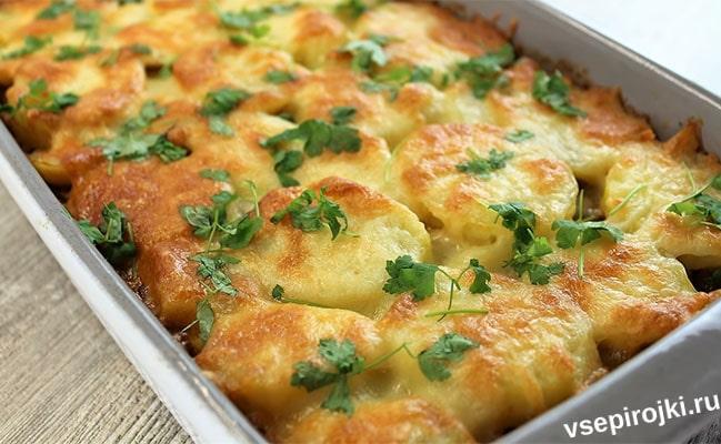 запеканка с картошкой и фаршем в духовке