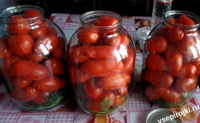 помидоры на зиму приготовление