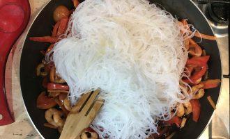 фунчоза с креветками приготовление
