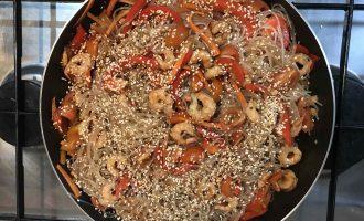 фунчоза с креветками
