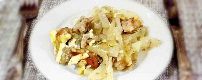 Картофель запеченный со свининой