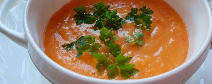 Тыквенный крем суп на молочной основе