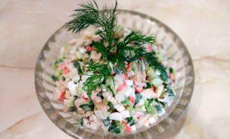 салат из крабовых палочек летнее настроение