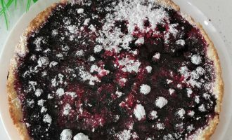 песочный пирог со смородиной